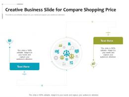 Creative Business Slide For Compare Shopping Price Infographic Template