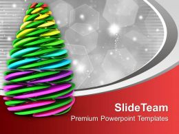 Creative Christmas Tree Holidays PowerPoint Templates PPT Themes And Graphics