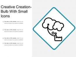 Creative Creation Bulb With Small Icons