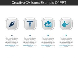 Creative Cv Icons Example Of Ppt