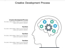 Creative Development Process Ppt Powerpoint Presentation Icon Inspiration Cpb