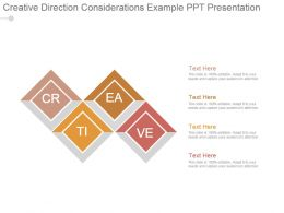 Creative Direction Considerations Example Ppt Presentation