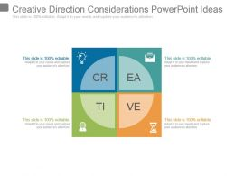 Creative Direction Considerations Powerpoint Ideas