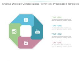 Creative Direction Considerations Powerpoint Presentation Templates