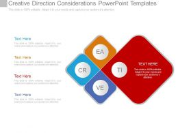 Creative Direction Considerations Powerpoint Templates