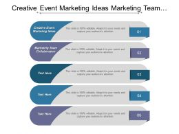 Creative Event Marketing Ideas Marketing Team Collaboration 7 S Model Cpb