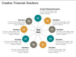 Creative Financial Solutions Ppt Powerpoint Presentation Gallery Guidelines Cpb