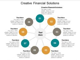 Creative Financial Solutions Ppt Powerpoint Presentation Outline Infographics Cpb