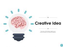 Creative Idea Brain Management K83 Ppt Powerpoint Presentation File Brochure