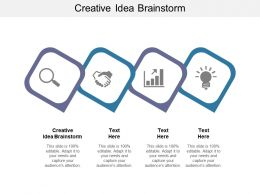 Creative Idea Brainstorm Ppt Powerpoint Presentation Show Background Images Cpb