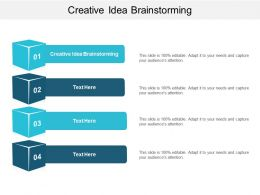 Creative Idea Brainstorming Ppt Powerpoint Presentation Gallery Backgrounds Cpb