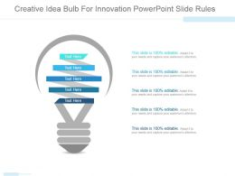Creative Idea Bulb For Innovation Powerpoint Slide Rules