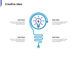 Creative Idea Innovation L628 Ppt Powerpoint Presentation Ideas Influencers