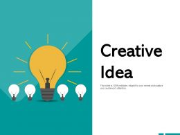 Creative Idea Innovation Technology A412 Ppt Powerpoint Presentation Ideas Slides