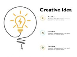 Creative Idea Technology Ppt Powerpoint Presentation Gallery Microsoft
