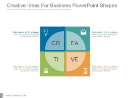 Creative Ideas For Business Powerpoint Shapes
