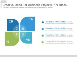 Creative Ideas For Business Projects Ppt Ideas