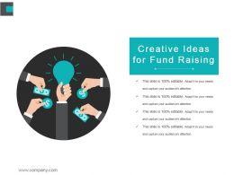 Creative Ideas For Fund Raising Powerpoint Show