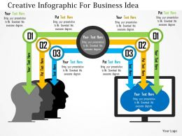 Creative Infographic For Business Idea Flat Powerpoint Design