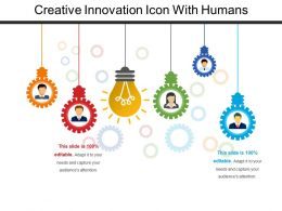 Creative Innovation Icon With Humans