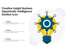 Creative Insight Business Opportunity Intelligence Solution Icon
