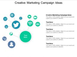 Creative Marketing Campaign Ideas Ppt Powerpoint Presentation Professional Topics Cpb