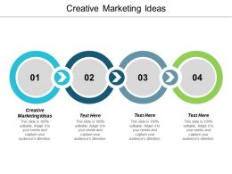 Creative Marketing Ideas Ppt Powerpoint Presentation Icon Layouts Cpb
