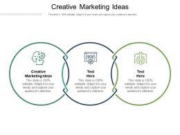 Creative Marketing Ideas Ppt Powerpoint Presentation Templates Cpb