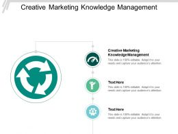 Creative Marketing Knowledge Management Ppt Powerpoint Presentation Slides Rules Cpb