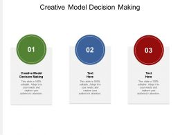 Creative Model Decision Making Ppt Powerpoint Presentation Infographic Template Format Cpb