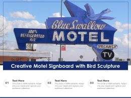 Creative Motel Signboard With Bird Sculpture