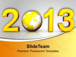 Creative New Year Concept With Globe Powerpoint Templates Ppt Themes And Graphics 0113