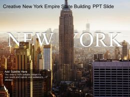Creative New York Empire State Building PPT Slide