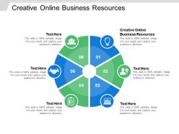 Creative Online Business Resources Ppt Powerpoint Presentation Gallery Aids Cpb