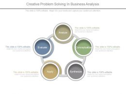 Creative Problem Solving In Business Analysis Diagram Powerpoint Layout