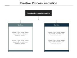 Creative Process Innovation Ppt Powerpoint Presentation Slides Objects Cpb