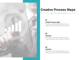Creative Process Steps Ppt Powerpoint Presentation Professional Graphic Tips Cpb