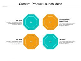 Creative Product Launch Ideas Ppt Powerpoint Presentation Ideas Structure Cpb