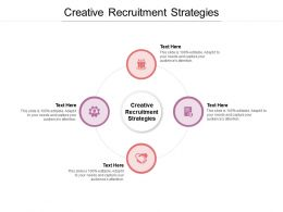 Creative Recruitment Strategies Ppt Powerpoint Presentation Inspiration Topics Cpb