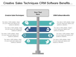 Creative Sales Techniques Crm Software Benefits Placement Marketing Cpb