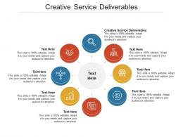 Creative Service Deliverables Ppt PowerPoint Presentation Inspiration Introduction Cpb