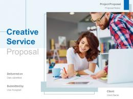 Creative Service Proposal Powerpoint Presentation Slides
