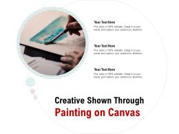 Creative Shown Through Painting On Canvas