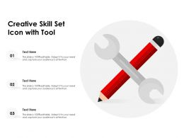 Creative Skill Set Icon With Tool