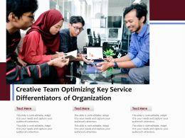 Creative Team Optimizing Key Service Differentiators Of Organization