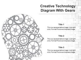 Creative Technology Diagram With Gears Powerpoint Graphics