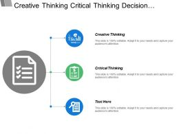 Creative Thinking Critical Thinking Decision Making Original Products