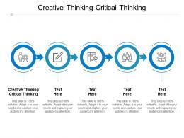 Creative Thinking Critical Thinking Ppt Powerpoint Presentation Inspiration Professional Cpb