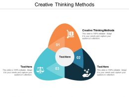 Creative Thinking Methods Ppt Powerpoint Presentation Infographic Template Cpb
