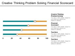Creative Thinking Problem Solving Financial Scorecard Planning Leadership Cpb